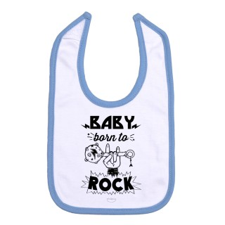 "Babero ""Baby born to rock"""