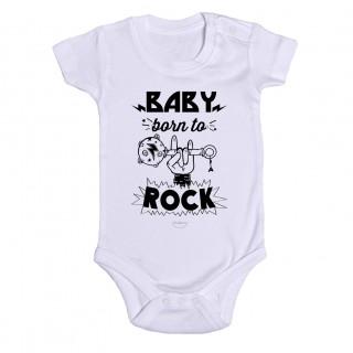 "Body bebé ""Baby born to rock"""