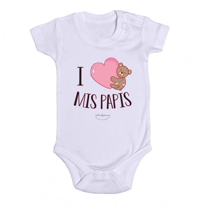"""Body bebé """"I love mis papis"""""""