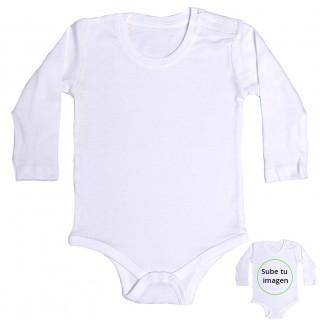 Body bebé manga larga personalizable