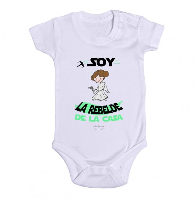 "Body bebé ""Soy la rebelde de la casa"""