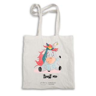 """Bolsa tela tote bag. Color natural """"Trust me"""""""