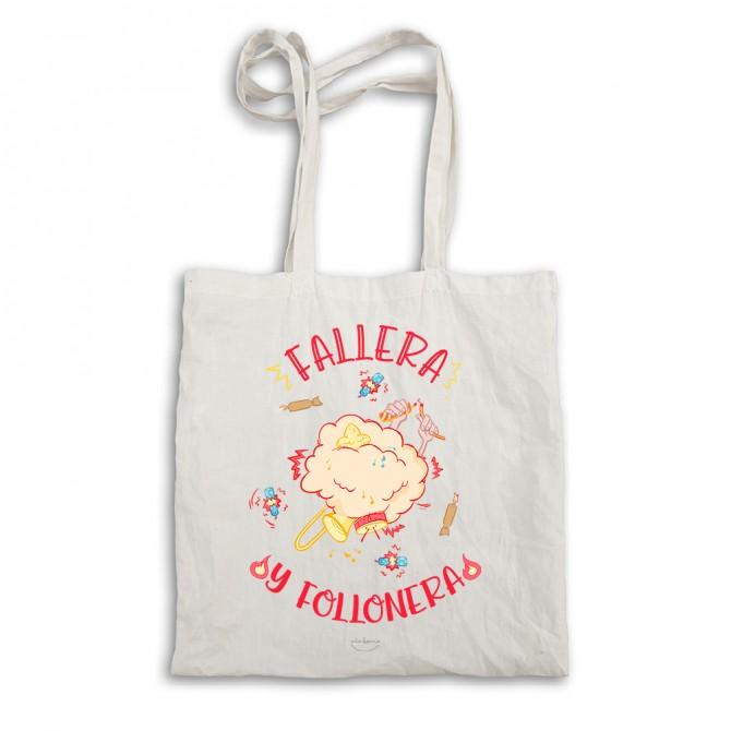 """Bolsa tela tote bag """"Fallera y follonera"""""""