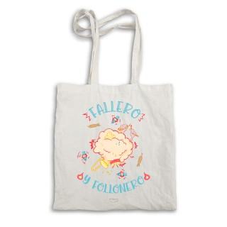 """Bolsa tela tote bag """"Fallero y follonero"""""""