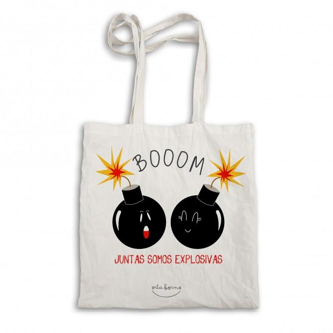 """Bolsa tela tote bag """"Juntas somos explosivas"""""""