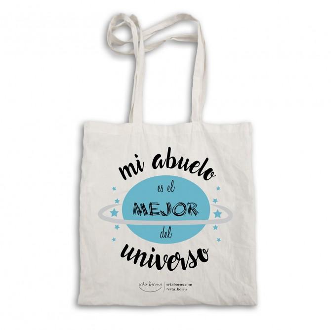 """Bolsa tela tote bag """"Mi abuelo es el mejor del universo"""""""