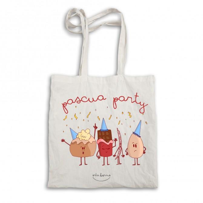 """Bolsa tela tote bag """"Pascua party"""""""
