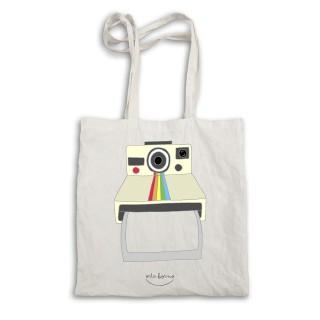 "Bolsa tela tote bag ""Polaroid. Captura el momento. Personalizado"""