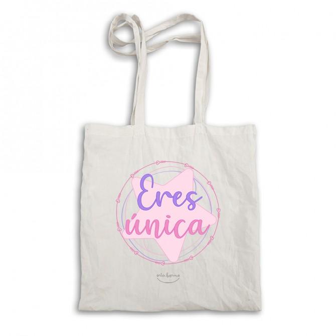 "Bolsa tote bag ""Eres única"""