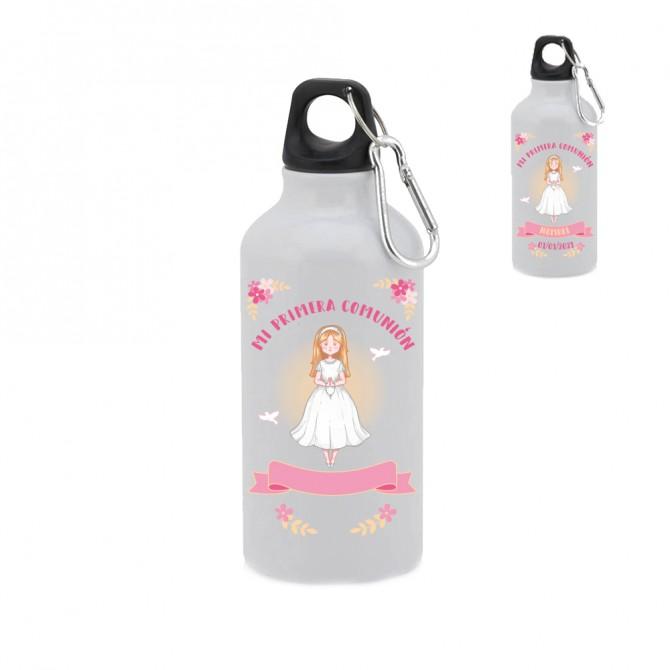 "Botella-bidón 400 ml. ""Mi primera comunión"" Niña. Personalizable"