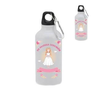 """Botella-bidón 400 ml. """"Mi primera comunión"""" Niña. Personalizada"""