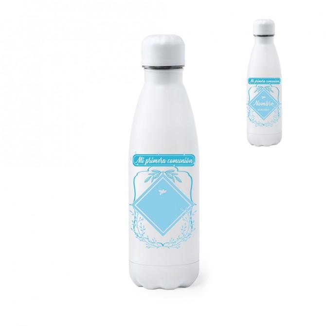 """Botella-bidón 790 ml. """"Mi primera comunión"""" Floral. Personalizable"""