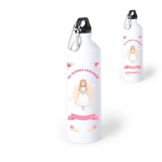 "Botella-bidón 800 ml. ""Mi primera comunión"" Niña. Personalizable"