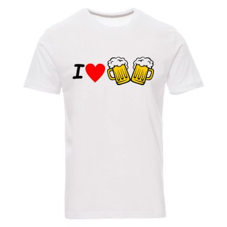 """Camiseta básica """"I love cervezas"""""""