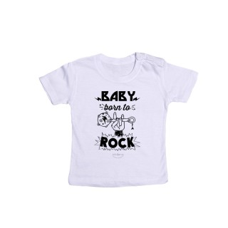 "Camiseta bebé ""Baby born to rock"""