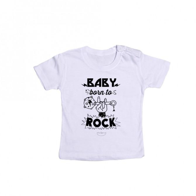 "Camiseta bebé ""Baby born to rock"""