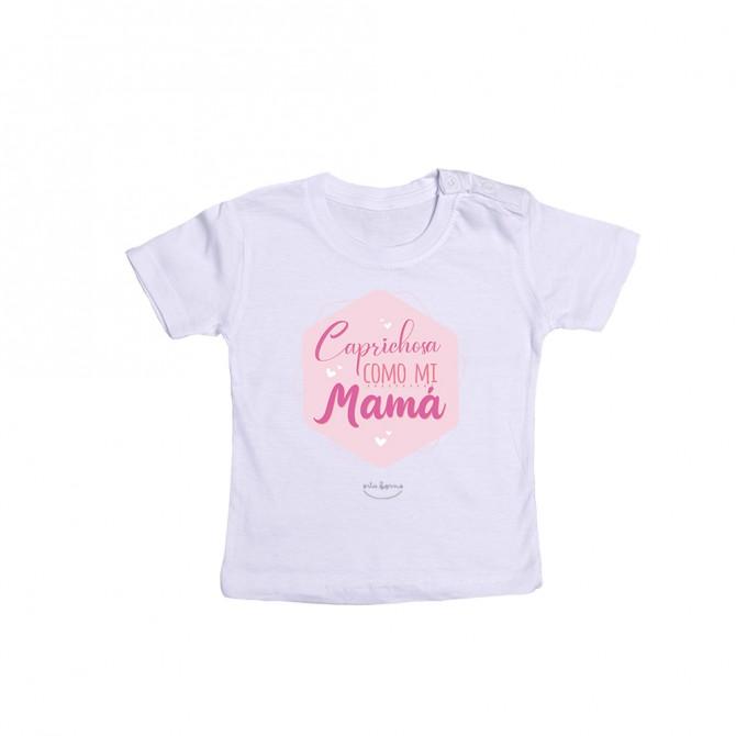 """Camiseta bebé """"Caprichosa como mi mamá"""""""