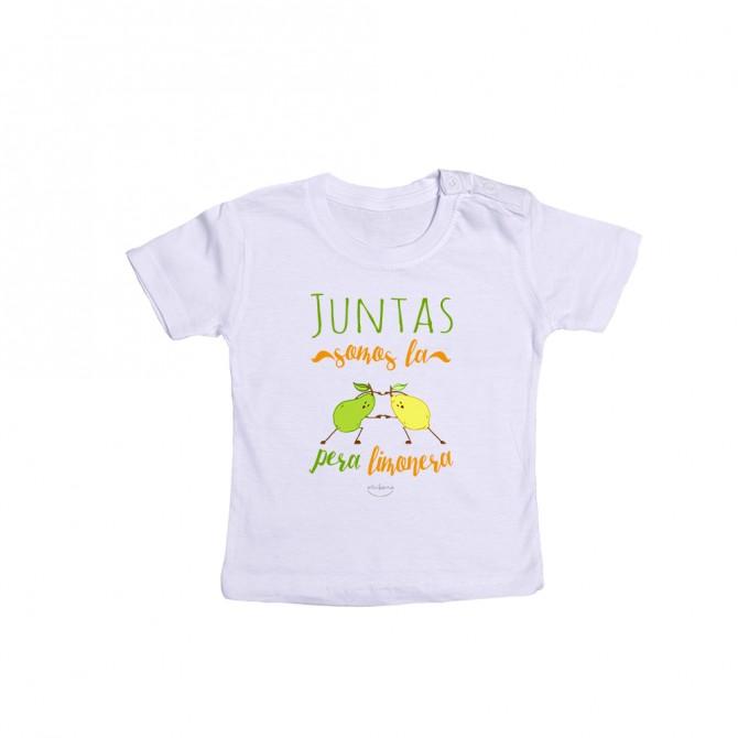 """Camiseta bebé """"Juntas somos la pera limonera"""""""