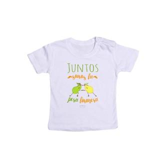 """Camiseta bebé """"Juntos somos la pera limonera"""""""