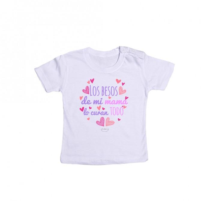 """Camiseta bebé """"Los besos de mi mamá lo curan todo"""""""