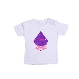 "Camiseta bebé ""Mi mamá mola mucho"""