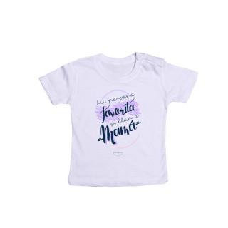 "Camiseta bebé ""Mi persona favorita se llama mamá"""