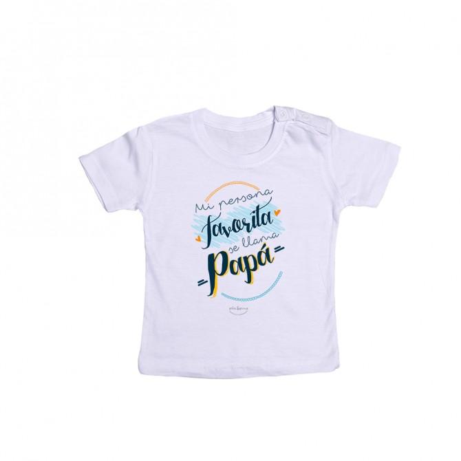 "Camiseta bebé ""Mi persona favorita se llama papá"""