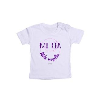 """Camiseta bebé """"Mi tía mola mogollón"""""""
