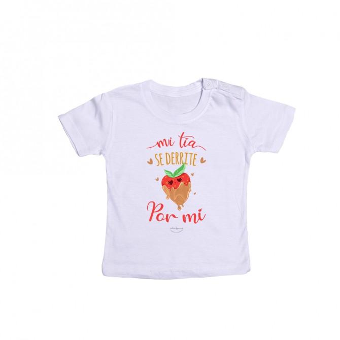 """Camiseta bebé """"Mi tía se derrite por mí"""""""