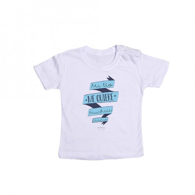 "Camiseta bebé ""Mi tío me quiere muchííííííííísimo"""