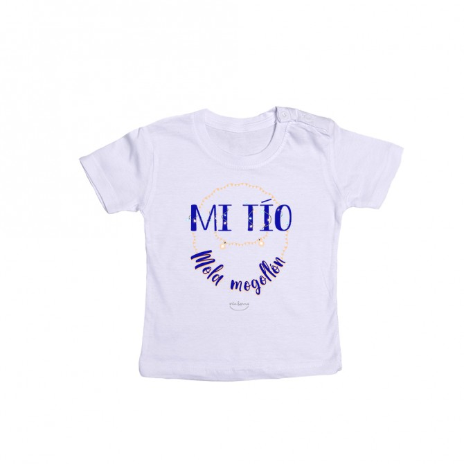 """Camiseta bebé """"Mi tío mola mogollón"""""""
