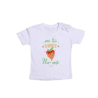 """Camiseta bebé """"Mi tío se derrite por mí"""""""