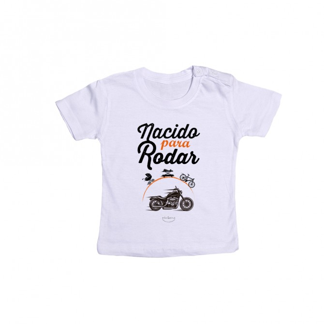 """Camiseta bebé """"Nacido para rodar"""""""