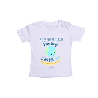 """Camiseta bebé """"No es por presumir pero tengo el mejor papá del mundo mundial"""""""
