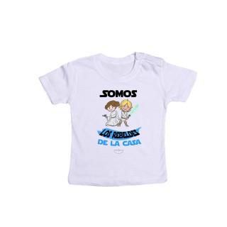 """Camiseta bebé """"Somos los rebeldes de la casa"""""""