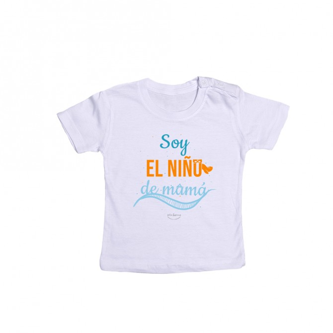 """Camiseta bebé """"Soy el niño de mamá"""""""