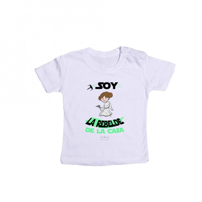 """Camiseta bebé """"Soy la rebelde de la casa"""""""