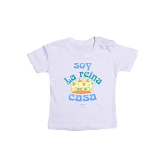 """Camiseta bebé """"Soy la reina de la casa"""""""