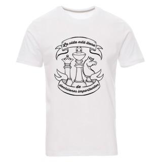 """Camiseta """"La vida está llena de decisiones importantes"""""""