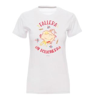 "Camiseta mujer ""Fallera y follonera"""
