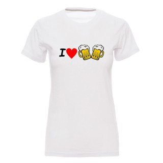 "Camiseta mujer ""I love cervezas"""