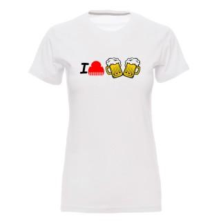 """Camiseta mujer """"I peineta cerveza"""""""