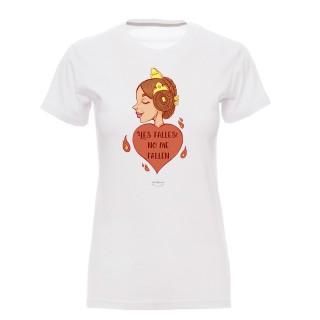 """Camiseta mujer """"Les falles no me fallen"""" Fallera"""