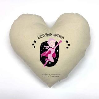 Cojín corazón Frases Bonitas - Juntas Somos imparables