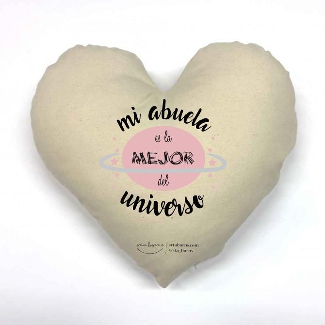 Cojín corazón Regalo Abuela - Mi Abuela es la Mejor del Universo