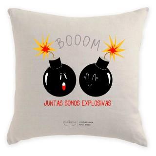 Cojín Regalo Amiga - Boom Juntas Somos explosivas