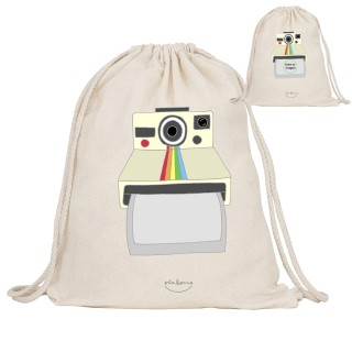 "Mochila de tela ""Captura el momento. Polaroid"" Personalizable"