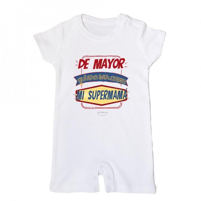 """Mono bebé """"De mayor quiero ser como mi supermamá"""""""