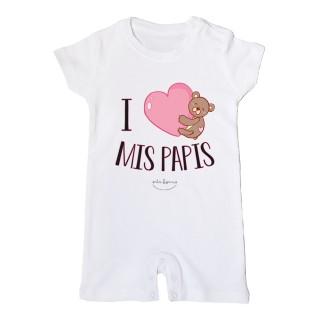 "Mono bebé ""I love mis papis"""