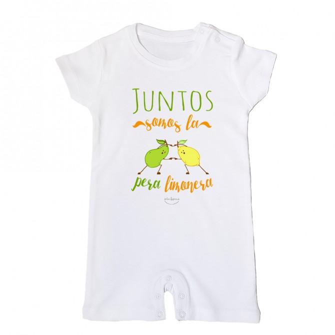"""Mono bebé """"Juntos somos la pera limonera"""""""